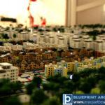 Une maquette de programme immobilier