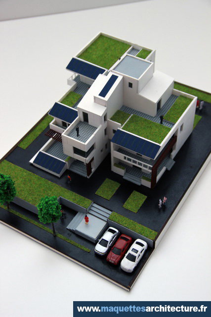Maquette Maison Moderne maquette maison écologique | maquettes d'architecture