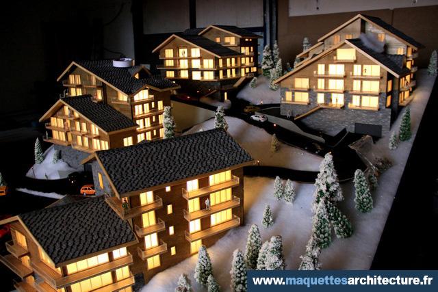 Maquetttes chalets la tzoumaz suisse maquettes d 39 architecture - Maquetas de chalets ...