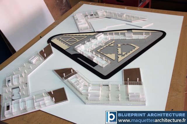 Maquette démontable immeuble bureaux maquettes d architecture