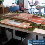 la maquette du complexe sportif Stejarii