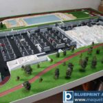 maquette complexe sportif Stejarii