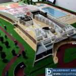 maquette du complexe sportif Country Club