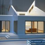 maquette démontable d'une maison d'architecte