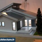 Maquette architecturale d'une maison