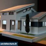 Maquette architecturale maison