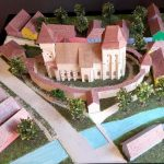 maquette de église fortifiée Valea Viilor