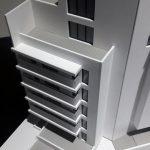 Maquette architecturale immeuble des bureaux