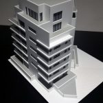 Maquette immeuble bureaux