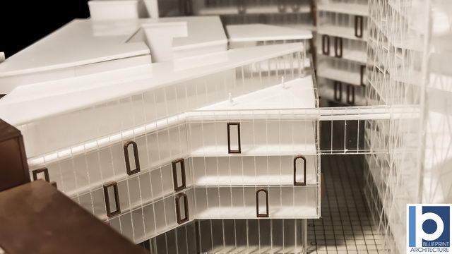 Maquette architecturale b timent des bureau maquettes d