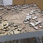 Maquette d'urbanisme ville de Jérusalem