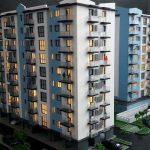 maquette projet Résidence immobilière