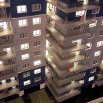Maquette architecturale de résidence immobilière métropolitaine