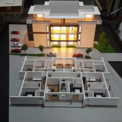 maquette batiment divise en appartements
