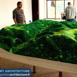 Maquette topographique secteur montagneuse