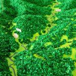 Maquette topographie secteur géographique