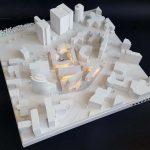 Maquettes promotion des immeubles bureaux