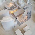 Maquette immeubles de bureaux