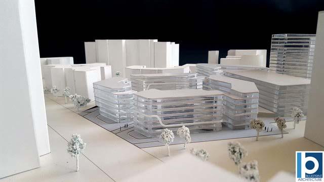 Maquette promotion immeubles de bureaux