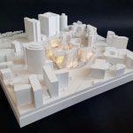 Maquettes architecturales immeubles de bureaux