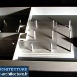 modèle à l'échelle d'un espace d'exposition