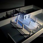 modèle à l'échelle espace d'exposition