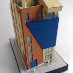 Modèle bâtiment de bureau de brique