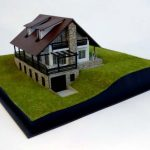 maquette architecturale Chalet de montagne