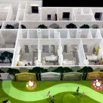 Plan détaillé d'un modèle d'hôpital pédiatrique