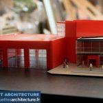 Département d'incendie Maquette d'architecture