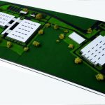 Maquette industrielle d'usine bosch