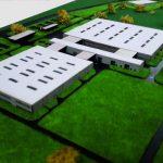 Maquette entrepôt et usine industriel