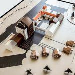 Modèle à architecturale Modèle à l'échelle centre de rétablissement