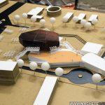maquette d'architecture centre culturel
