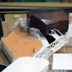 Modèle architectural Modèle architectural miniature centre culturel