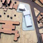 Modèle d'échelle d'architecture urbanistique