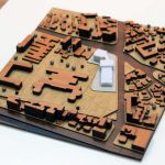 Maquette d'échelle d'architecture urbanistique
