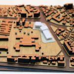 Maquette d'échelle urbanistique