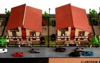 maquette d'architecture maisons