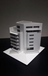 Maquette d'immeuble des bureaux