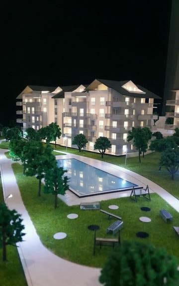 Maquette d'un complexe immobilier à Suisse