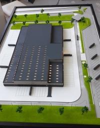 Maquette architecturale d'usine