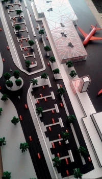 Maquette darchitecture conceptuelle aéroport
