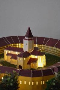 maquette de L'église médiévale Prejmer