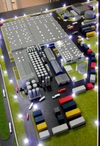 maquette d'usine complexe industriel
