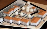 maquette de l'ensemble architectural