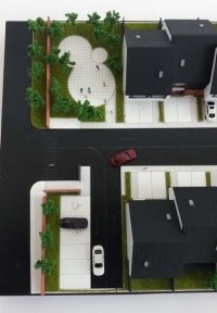 maquette de logement contemporain