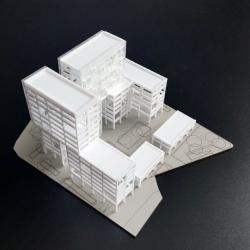 Maquette Immeuble de bureaux (2)