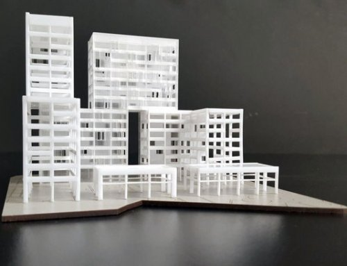 Maquette conceptuelle – Immeuble de bureaux Paris