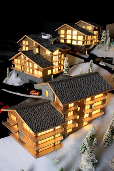 Maquettes de maisons